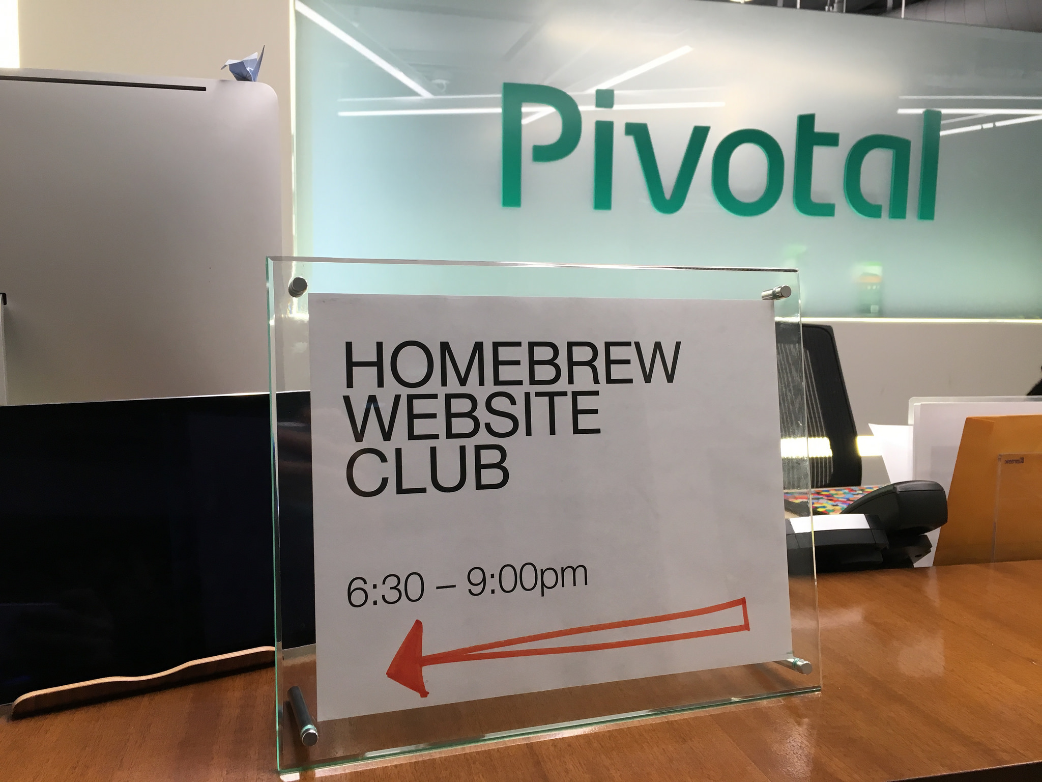 Homebrew Website Club at Pivotal in Santa Monica